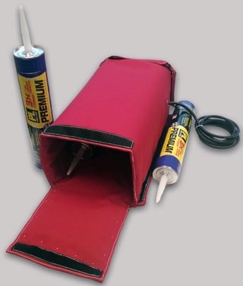 Adhesive tube warming case