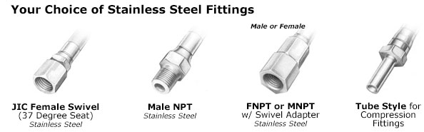 Heated hose fittings.