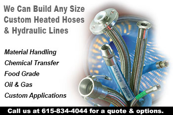 Custom designed heated hoses.