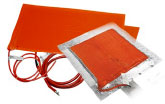 Silicone rubber heat blankets